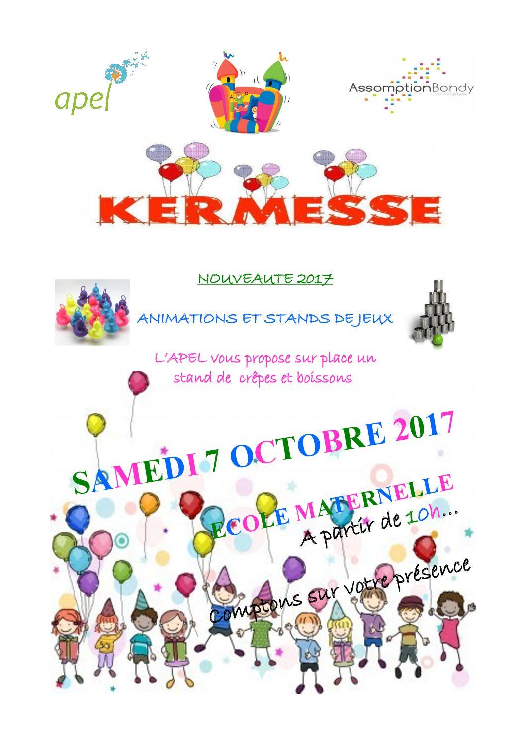 Nouvelle Kermesse des petits : 7 octobre