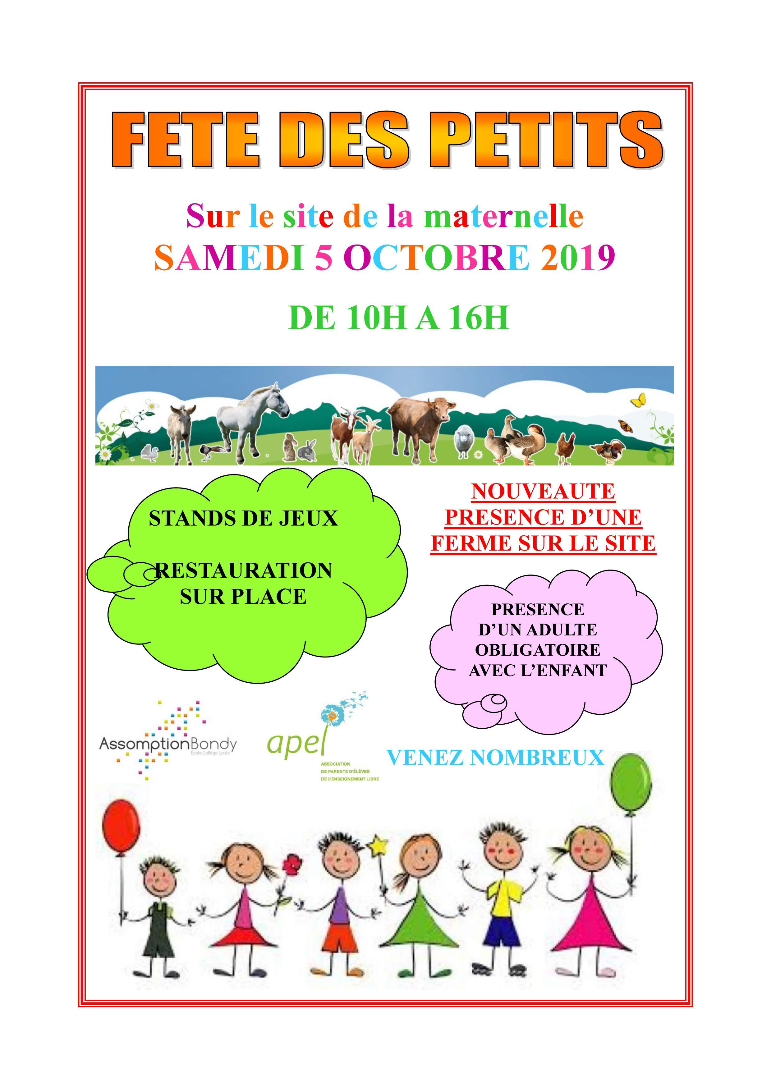 Notre premier événement : La fête des petits !