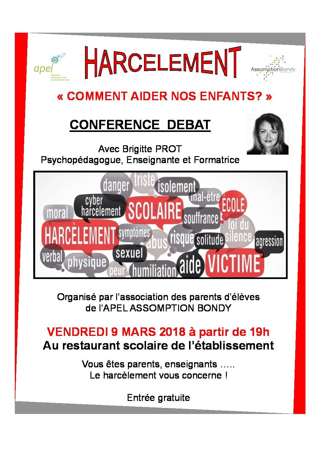 Conférence sur le Harcèlement